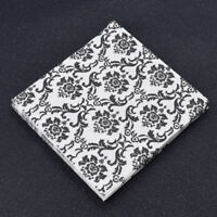 20pcs Black White Flower Napkin Serviette Tissue Wedding Party Supplies Decor