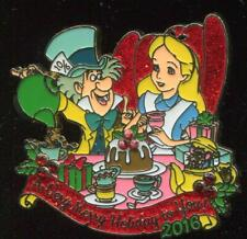 A Very Merry Holiday to You 2016 Tea Party Mad Hatter Alice LE Disney Pin 119428