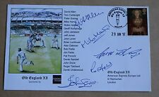 Old England 1997 cricket copertura firmato LEVA, Hobbs, humpage, Allen & Harris