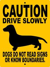 5010 DACHSHUND DOG SIGN VINYL OUTDOOR INDOOR 9 X 12