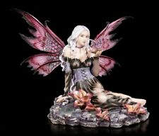Elves Figurine - herbania There Is Baby Dragon to Drink - Fantasy Fairy Magic