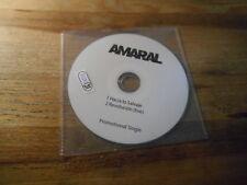 CD POP Amaral-hacia io Salvaje (2) canzone PROMO * uncredited LABEL * disc only