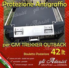 1 Pellicola protettiva nera Bauletto Givi Trekker Outback 42 litri ANTIGRAFFIO