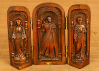boxwood hand carved Christian Jesus statue Extension box noble table decoration