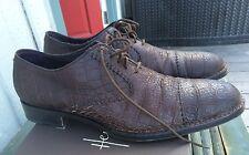 Gorgeous Henry Cuir Beguelin Cap Toe Brogue Blucher Size 44 11-11.5