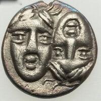 400 BC Moesia Istrus AR 1/4 drachma RARE ANCIENT DOUBLE STRIKE XF SLIGHT TONE