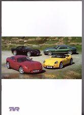 TVR Tamora Tuscan Cerbera 2002 UK Market Sales Brochure