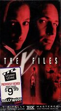 """DAVID DUCHOVNY """"THE X-FILES"""" VHS 1998 20th century fox sealed"""