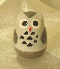 GLAZED CERAMIC OWL CANDLE TEA LIGHT HOLDER HOME DECOR GREAT GIFT IDEA