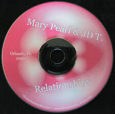 """Mary Pearl & JD T """"Our Relationships"""" Alcohollics Anonymous & Al-anon 2007 CD"""