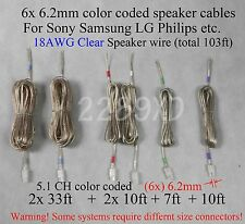 6c speaker wires 6.2mm 103ft 18Awg made for select Sony Samsung Lg Philips Ht