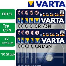 10 x Varta CR 1/3 CR11108 2L76 58L CR1/3N 3V Knopfzelle Lithium Batterie