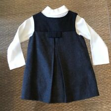 NWT JACADI $138 Turtleneck & Grey Dress Outfit - 12 Months