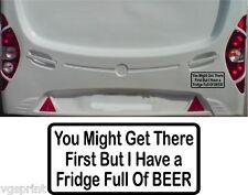 caravane camping car Autocollant marrant Frigo Full of bière couleurs au choix