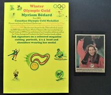 BEDARD MYRIAM CANADA WINTER OLYMPIC GOLD MEDAL 1992 SIGNED PICTURE
