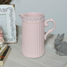 Decorative pink ceramic pottery jug vase flower display shabby chic home gift