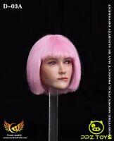 Createmodels 1/6 Female Figure Pouting Head Sculpt Carved Model D-02A Accessorie