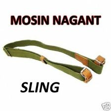 AIM Mosin Nagant Sling - Thick Canvas Adjustable Leather Strap Fits M44 Carbine