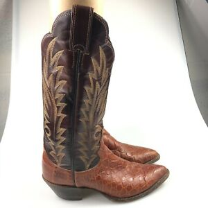Justin Womens Brown K2732 Pointed Toes Western Cowgirl Leather Boots Size 6 B