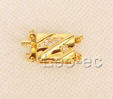 2 row yellow 12X16mm filled gold Jewelry Design Clasp W1103A32E6