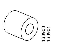 2x IKEA PLASTIC Spacer Distance for Komplement Shoe Shelf Gray Part # 130900