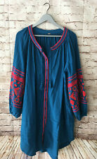 FREE PEOPLE Gypsy Boho Mexican Embroidered Oversized Dress, Size XL