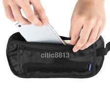 New Travel Pouch Hidden Compact Security Money Passport ID Waist Belt Bag Holder