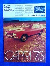 Ford Capri GT '73 - Werbeanzeige Reklame Advertisement 1973 __ (624