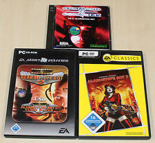 3 PC SPIELE SAMMLUNG - COMMAND & CONQUER - ALARMSTUFE ROT 1 2 3 YURIS RACHE