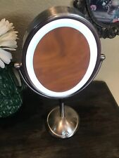 Lighted Makeup Mirror Beauty Stand Double Sided with 3X LED Light Gift for Girl