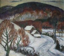 Schön Hans  1917 – 1994 Hier : 1970, Spessart Landschaft Winter Bauernhäuser