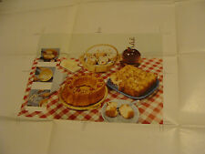 Vintage Printing Sample Poster: BAKED GOODS  FOOD PHOTO SPREAD, 36X25