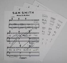 "SAM SMITH Signed Autograph ""Money On My Mind"" Sheet Music"