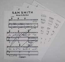 "SAM SMITH Signed Autograph ""Money On My Mind"" Sheet Music"