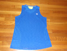 UNDER ARMOUR SEMI-FITTED SLEEVELESS BLUE TANK TOP WOMENS XL EXCELLENT CONDITION