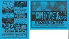 John Entwistle Band The Who Concert Handbill Flyer 1998 Nyc Cheap Trick