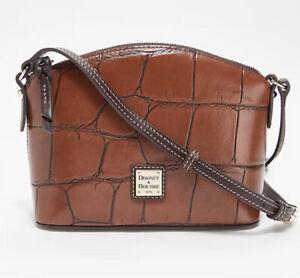 NWT Dooney Bourke Denison Croc Ruby Crossbody Bag Reg $188