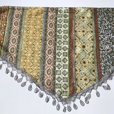 Scarf with trim embroidered Multi Color With Small Metallic Detail