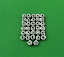 Dinky Wheel Hubs X 32 fits MG Alpine ,etc white metal castings / spare parts