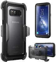 For Samsung Galaxy S8 Case i-Blason Armorbox Holster Belt Clip Cover No Screen