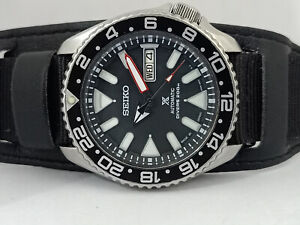SEIKO DIVER 7S26-0020 SKX007 STUNNING BLACK AIRDIVERS AUTOMATIC WATCH 770215