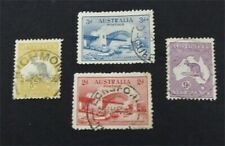 nystamps British Australia Stamp # 122//131 Used $52   A9y1340
