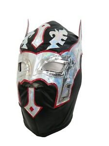 SIN CARA Adult Lucha Libre Wrestling Mask (pro-fit) Costume Wear - Premium Black