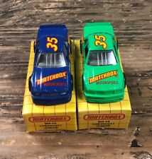 1991 & 1992 Matchbox Superfast #54 Chevy Lumina Stock Cars Boxed 1/64 diecast
