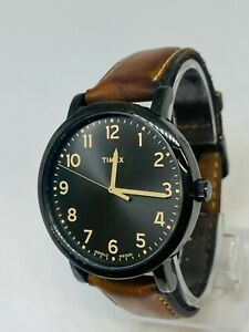 Timex Indigilo  Gents Watch Analogue Original Brown Lether Strap Light