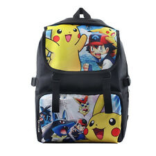 "18"" Pokemon Pikachu Backpack Travel Rucksack Waterproof Boys School Shoulder Bag"
