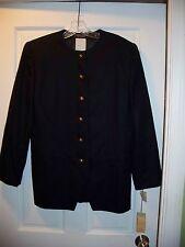 NWT Benard Holtzman by Harve Benard  Navy Blue Size 10 Suit Blazer 100% Wool