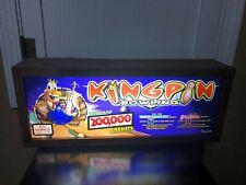 KING PIN BOWLING SLOT MACHINE GLASS LIGHTED BOX CASINO SIGN MAN CAVE GAMBLING