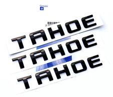 3x OEM Black TAHOE Nameplate EMBLEM Letter for GM 07-16 Chevrolet Glossy UWu NEW