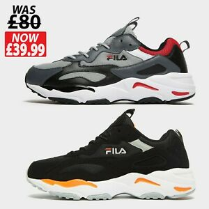 FILA Mens Ray Tracer Trainers Running Shoes - Size 6 to 12 UK **RRP£𝟾̶𝟶̶ *New